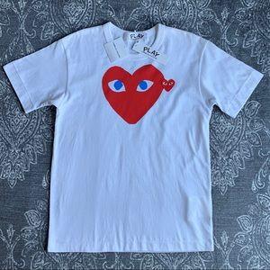 Comme Des Garçons PLAY Red Heart Blue Eyes Shirt S